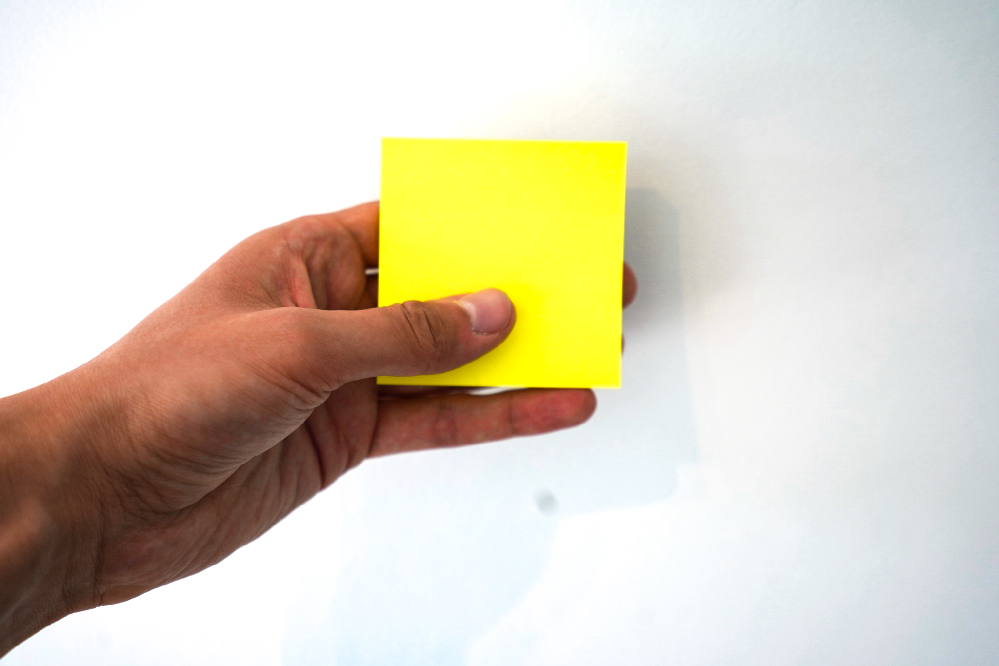 Yes, there is a right and a wrong way to do post-its