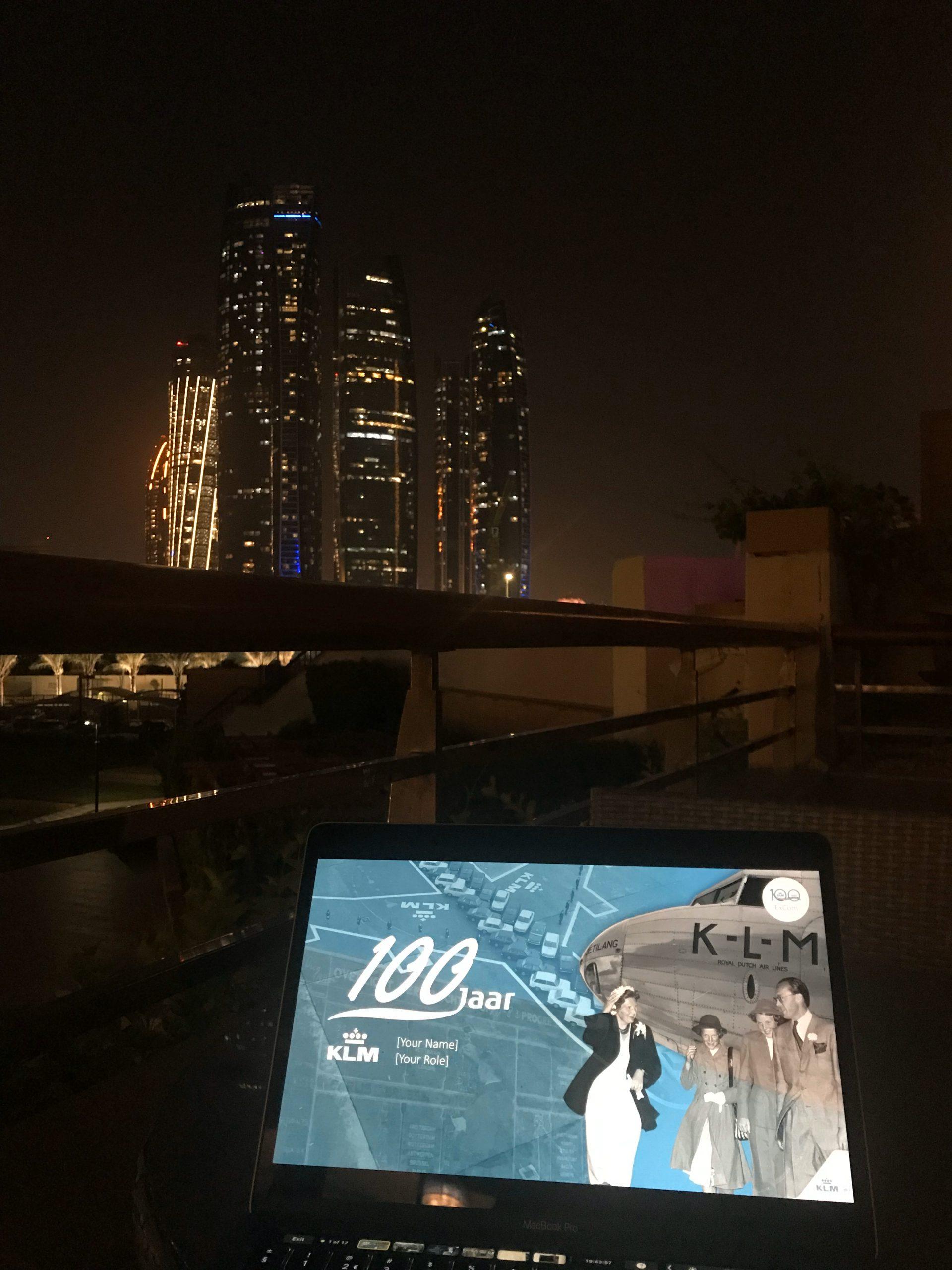 Evening views in Abu Dhabi