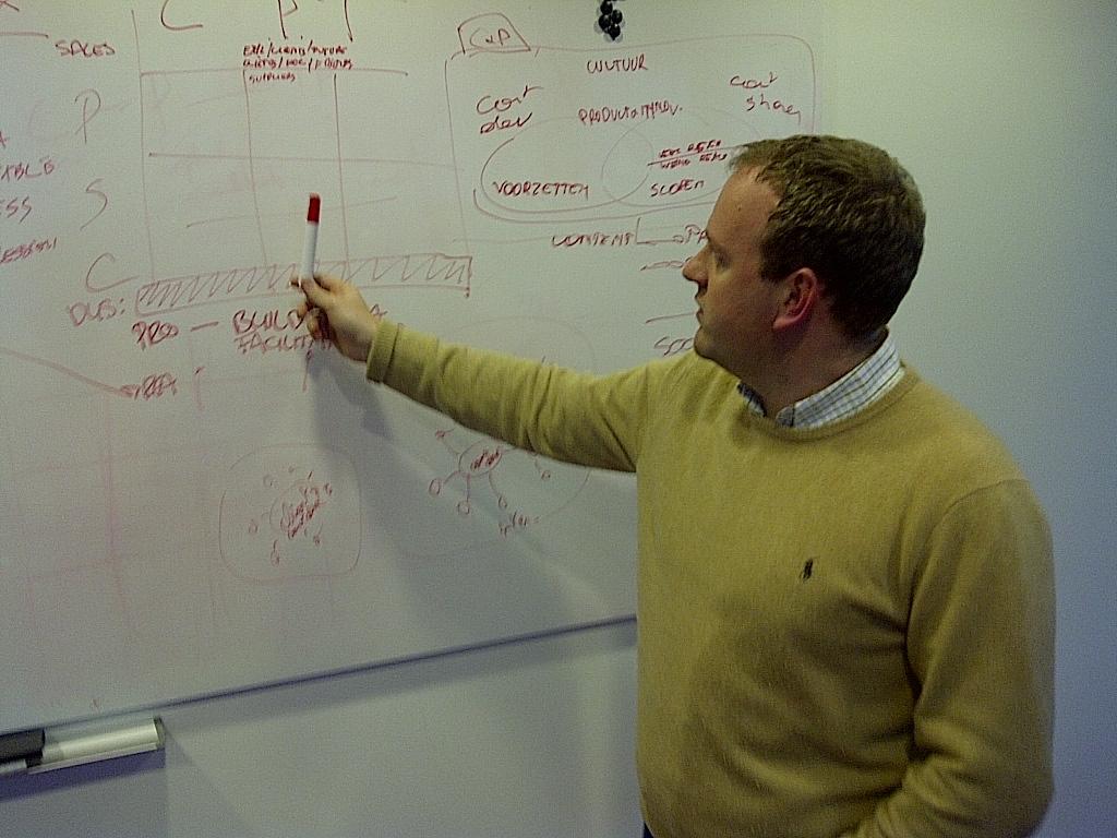 Developing models with Steven van Belleghem in May 2011